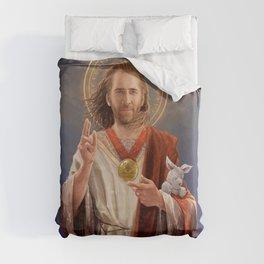 Saint Nicolas of Cage Duvet Cover