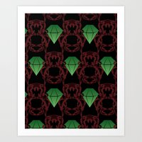 Emeralds & Demons [BLACK] Art Print