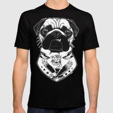 Dog - Tattooed Pug MEDIUM Mens Fitted Tee Black