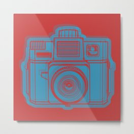 I Still Shoot Film Holga Logo - Red & Blue Metal Print