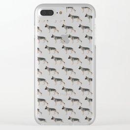 German Shepherd: Tan Sable Clear iPhone Case