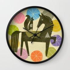 HORSE AND RIDER Wall Clock