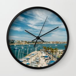 Luxury Yachts And Boats In Cascais Port At Atlantic Ocean, Wall Art Print, Luxury Resort Art, Poster Wall Clock