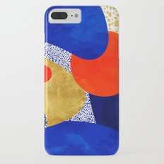 Terrazzo galaxy blue night yellow gold orange iPhone 8 Plus Slim Case