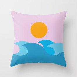Minimalist sunset Throw Pillow