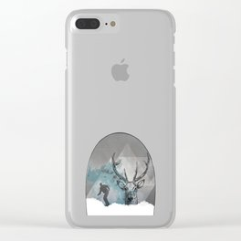Cool Snowboarding Pattern Clear iPhone Case
