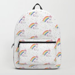 Kawaii Unicorn + Rainbow Backpack