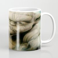 yoda Mugs featuring Yoda by Colunga-Art
