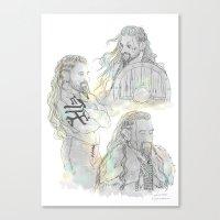 fili Canvas Prints featuring Viking Fili by Luirumi