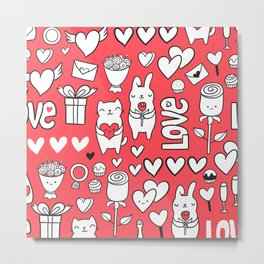 Happy Valentines Metal Print