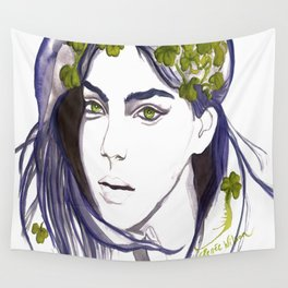 Emerald Eyes Wall Tapestry