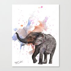 Dancing Elephant Painting Canvas Print