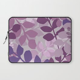 Ultra Violet Purple Lavender Leaves Pattern Laptop Sleeve