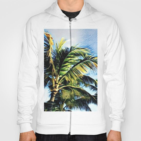 Palm Trees in the Wind (Hawaii Sky) Hoody