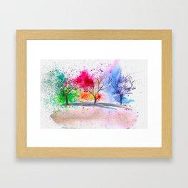 3 seasons Framed Art Print