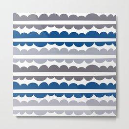 Mordidas Lapis Blue Metal Print