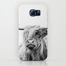 portrait of a highland cow Slim Case Galaxy S8