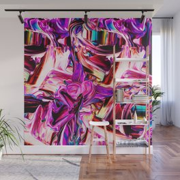 Colorful Abstract Liquid Paint IV Wall Mural