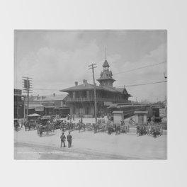 Pensacola, Florida 1900 Throw Blanket