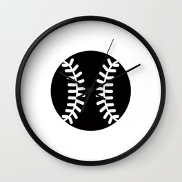 Baseball Ideology Wall Clock