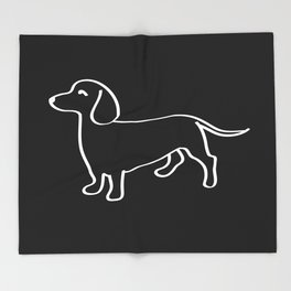 Doxie Love White Throw Blanket