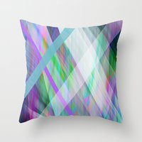 rave Throw Pillows featuring Crystal Rave by GS Designs