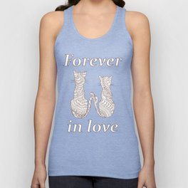 lovely cats Unisex Tank Top