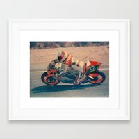 moto Framed Art Prints featuring Moto by AkaisColoraos