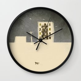winter cities 4 ( series) Wall Clock