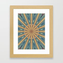 Barrel Kaleidoscpoe Framed Art Print
