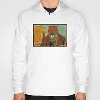phil jones Hoodies featuring Punxsutawney Phil by Derek Eads