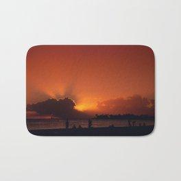 Hawaii Sunset - Ala Moana Beach Bath Mat
