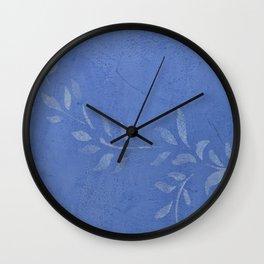 Blue Ivy Vine - Pretty - Rustic - Floral Wall Clock