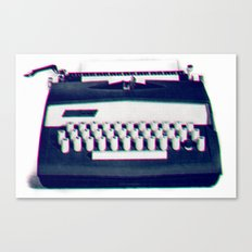 typing Canvas Print