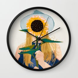 Miss Sunflower || Wall Clock