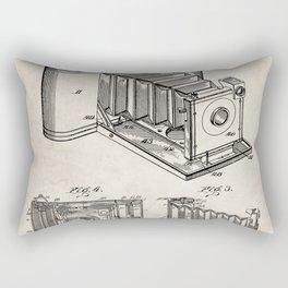 Folding Camera Patent - Photography Art - Antique Rectangular Pillow
