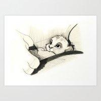 simba Art Prints featuring Simba by Herself