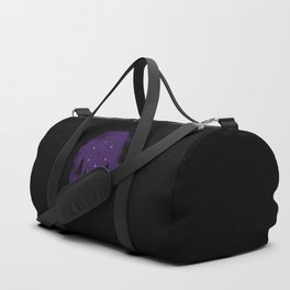 Dreamcatcher crow: Purple background Duffle Bag