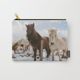 Icelandic Horses Carry-All Pouch
