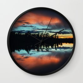 Fleeting Colours Wall Clock