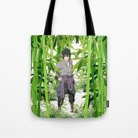 sasuke Tote Bags featuring Sasuke by tanduksapi
