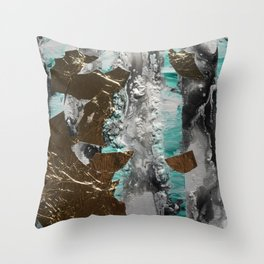 Stripes with Gold Throw Pillow