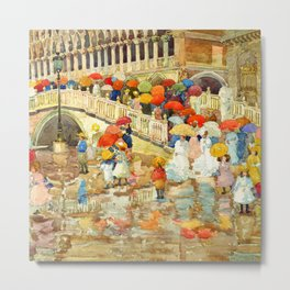 "Maurice Prendergast ""Umbrellas in the Rain"" Metal Print"