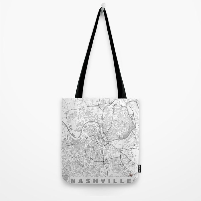 Nashville Map Line Tote Bag