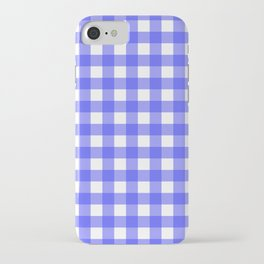 Plaid (Blue & White Pattern) iPhone Case