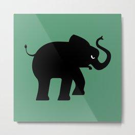 Angry Animals - Elephant Metal Print