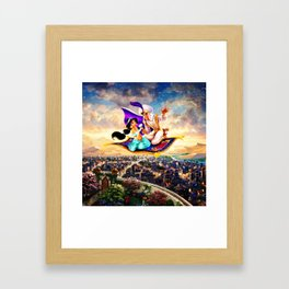 jasmine aladdin flying carpet Framed Art Print