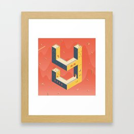 castle in the 'Y' Framed Art Print