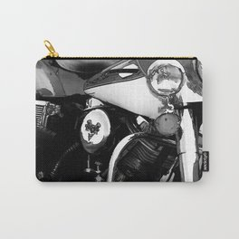 Vintage  Black & White HD Motorcycle Carry-All Pouch