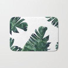 Banana Leaf Watercolor Pattern #society6 Bath Mat